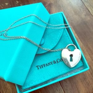 Tiffany & Co Heart lock Pendant with chain